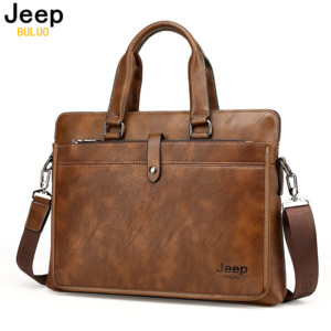 Jeep Style Business Leather Briefcase